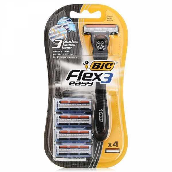 Бритвенный станок Bic Flex 3 HYBRID,  с 4 сменными кассетами