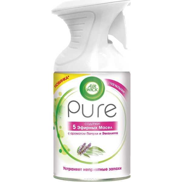 AirWick Pure 5 эфирных масел, пачули и эвкалипт