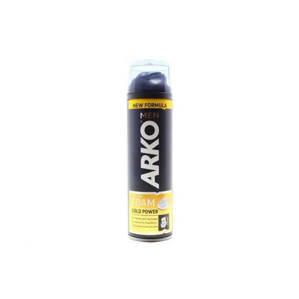 Пена для бритья Arko Gold Power, 200 мл