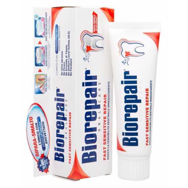 Зубная паста BIOREPAIR (Биорепейр) FAST SENSITIVE Repair для чувствительных зубов  75ml