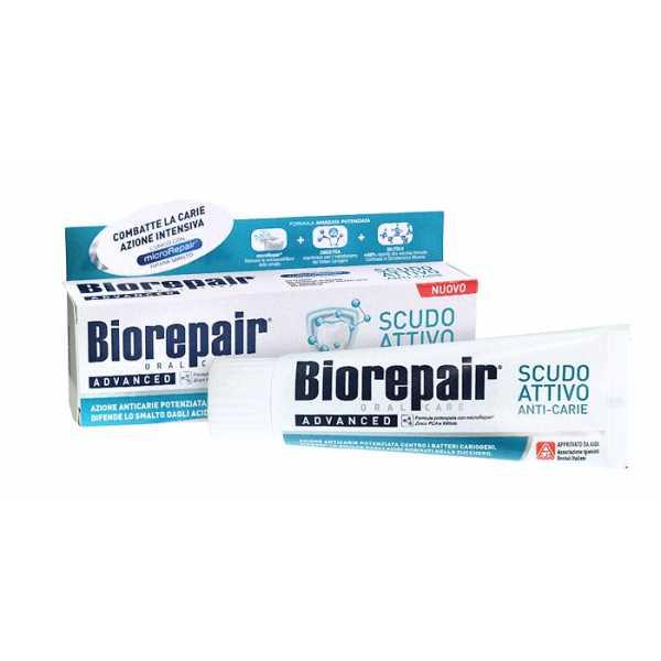 Зубная паста Biorepair (Биорепейр) PRO Scudo attivo shield-  активная защита от кариеса (75 мл)