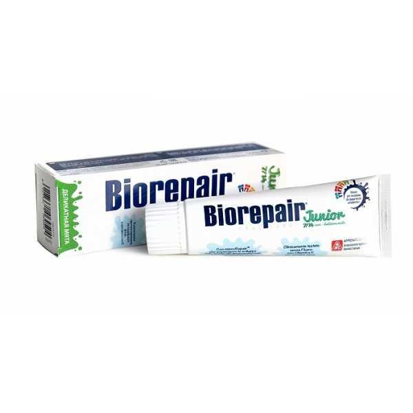 Biorepair (Биорепейр)  Junior Mint - Детская зубная паста мятная 7-14 лет, 75 мл