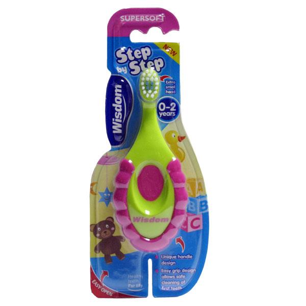 Детская зубная щетка Wisdom Step by Step 0-2