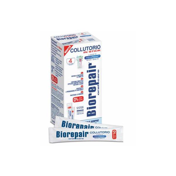 BIOREPAIR (Биорепейр) 4-ACTION  MOUTHWASH Концентрированная жидкость для полоскания полости рта, 12 пакетиков по 12ml
