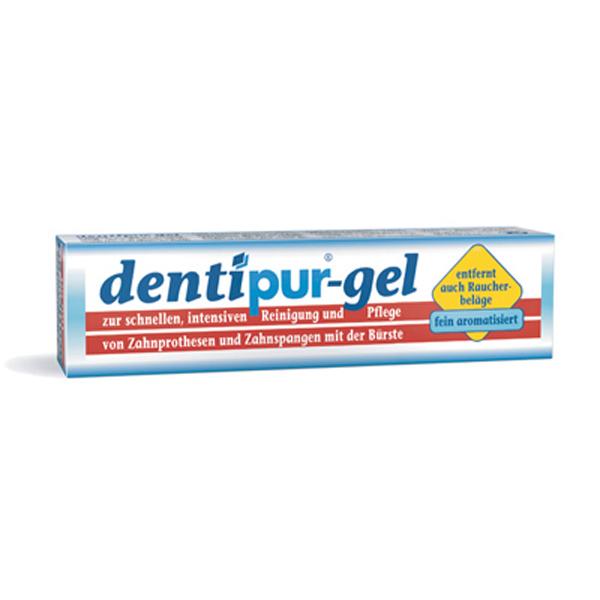 Дентипур Dentipur gel 100мл. Гель для очистки съемных зубных протезов.