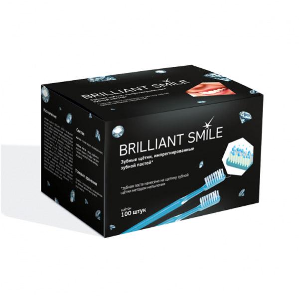 Одноразовые зубные щетки Brilliant Smile 100шт.