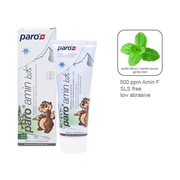 Детская зубная паста Paro Amin Kids 0-6 лет, 75мл
