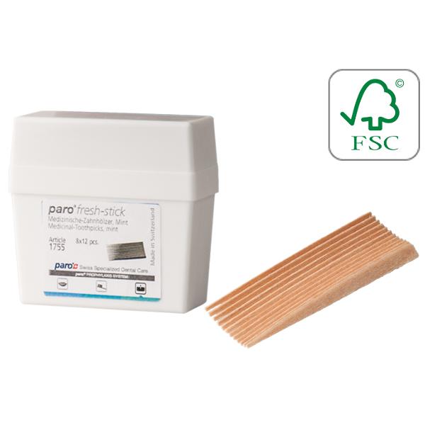 Paro Sticks Fresh, Зубочистки ароматизированные.