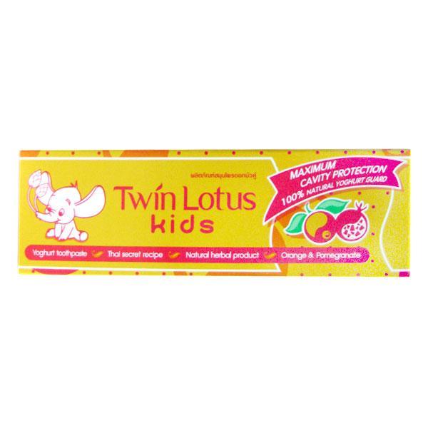 Детская зубная паста Twin Lotus Kids Апельсин и гранат 50г