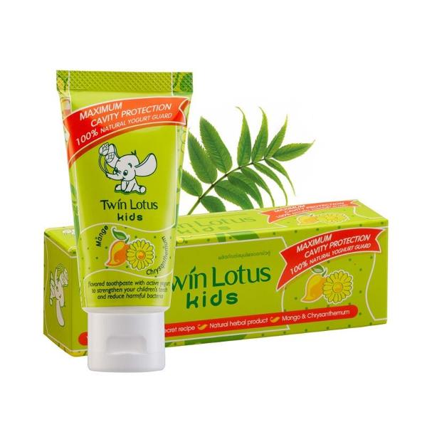 Детская зубная паста Twin Lotus Kids Манго и хризантема 50г