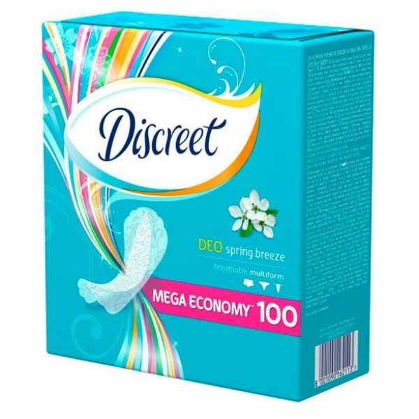 Прокладки Discreet Deo Spring Breeze 100 шт