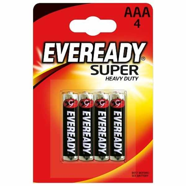 Батарейки Energizer Eveready Super  AAA 4 шт.