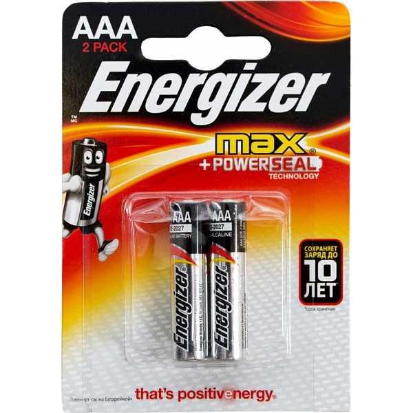 Energizer Алкалин AAА (2шт)