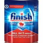 Таблетки для посудомоечных машин FINISH All in 1 max, 13шт