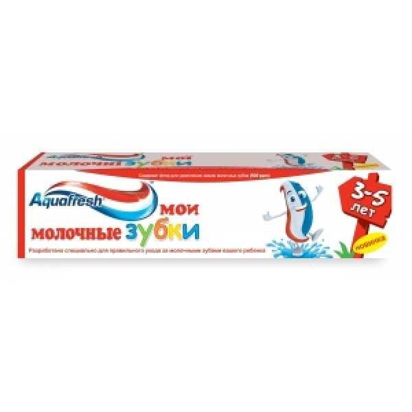 Аквафреш Зубная паста Детская МОИ МОЛОЧНЫЕ ЗУБКИ(3+) 50мл