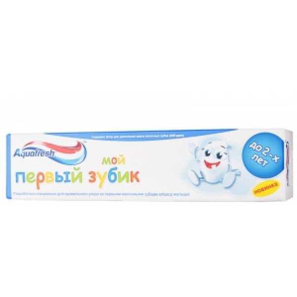 Аквафреш Зубная паста Детская МОЙ ПЕРВЫЙ ЗУБИК(до 2-х)50мл