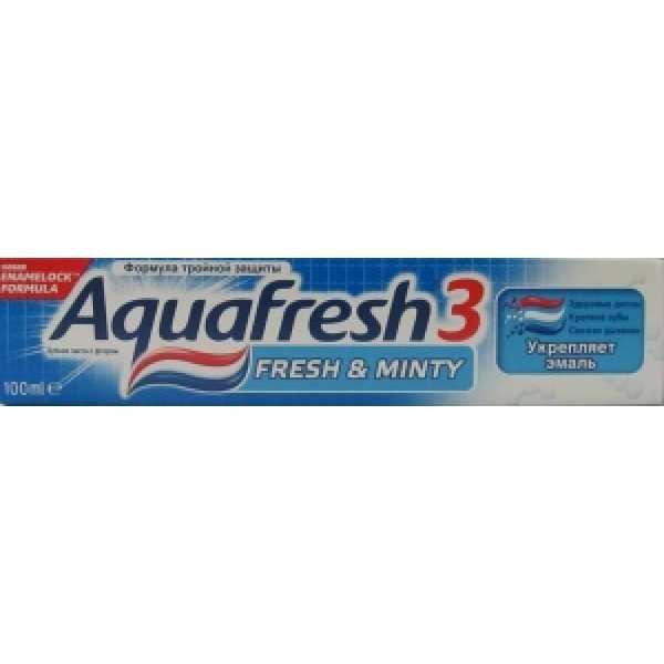Аквафреш Зубная паста освежающая -мятная (синяя) 100 мл
