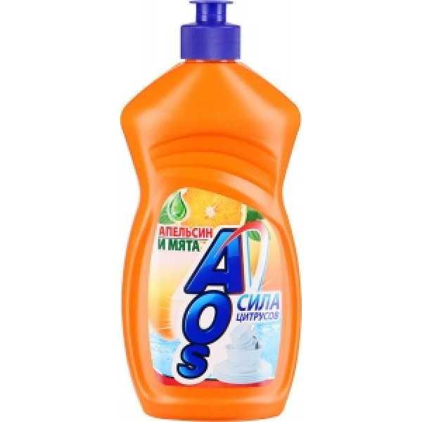 АОS  500мл средство для мытья посуды  АПЕЛЬСИН и МЯТА