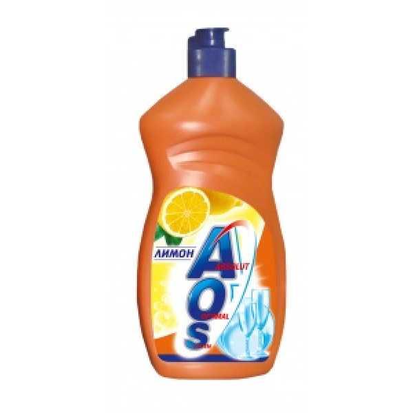 АОS  500мл средство для мытья посуды  ЛИМОН