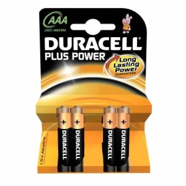 Дюраселл (Duracell) батарейка 4-х шт AAA (миз.) mn 2400