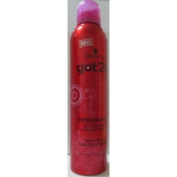 Got2b Лак для волос  Мегамания (СУПЕРобъём)  300 мл