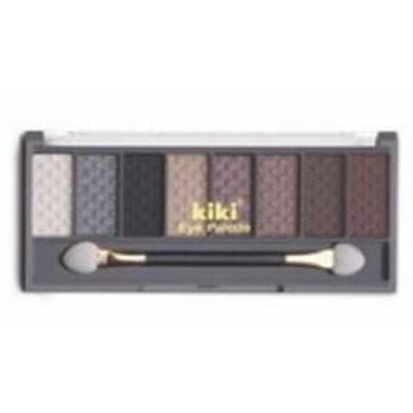 KIKI (КИКИ) Тени 8-ми цветные 803 бел, сер, черн, золото, кофе, золот-коричн, шоколад