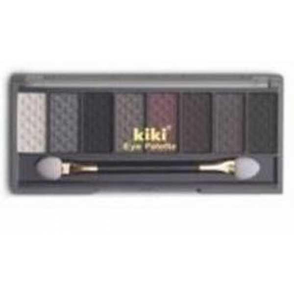 KIKI (КИКИ) Тени 8-ми цветные 804 бел, сталь, черн, бронз-корич, каштан, тем-корич