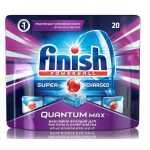 Таблетки для посудомоечных машин FINISH Quantum Max, 20 шт
