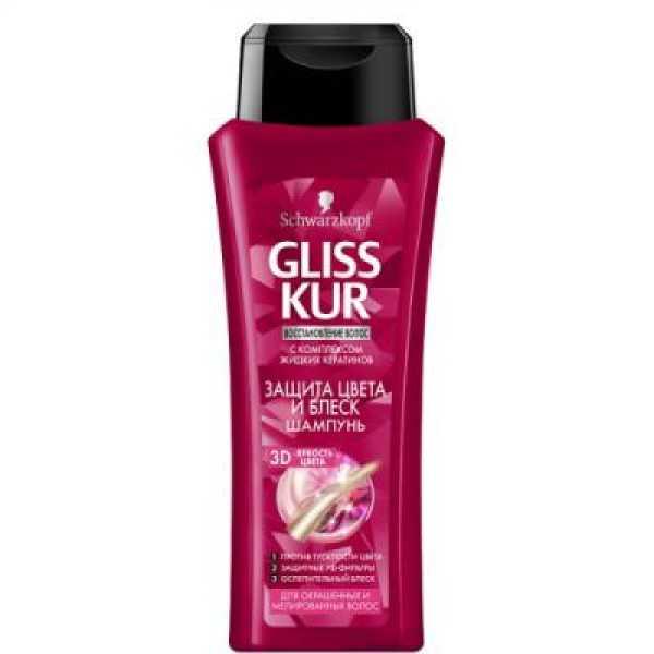 Gliss kur Шампунь 250мл. Защита цвета для окраш волос