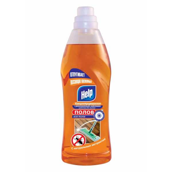 Концентрированное средство для мытья полов Help с репеллентными свойствами, 1 л