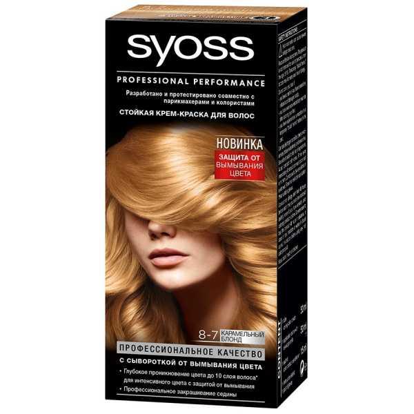 """Краска для волос Syoss Color 8-7 """"Карамельный Блонд"""", 115 мл"""