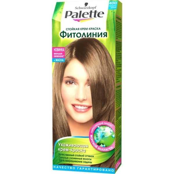 """Краска для волос Palette Фитолиния 400 """"Средне-русый"""", 50 мл"""
