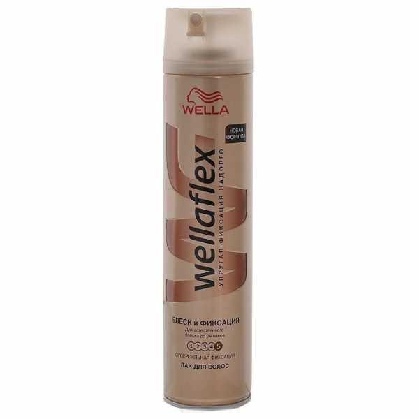Лак для волос Wellaflex, Блеск и Фиксация, 250 мл