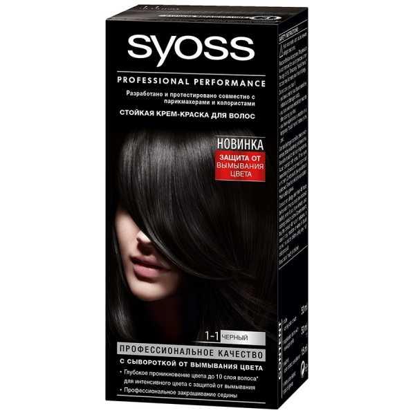 """Краска для волос Syoss Color 1-1 """"Черный"""", 115 мл"""
