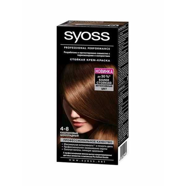 """Краска для волос Syoss Color 4-8 """"Каштановый шоколадный"""", 115 мл"""