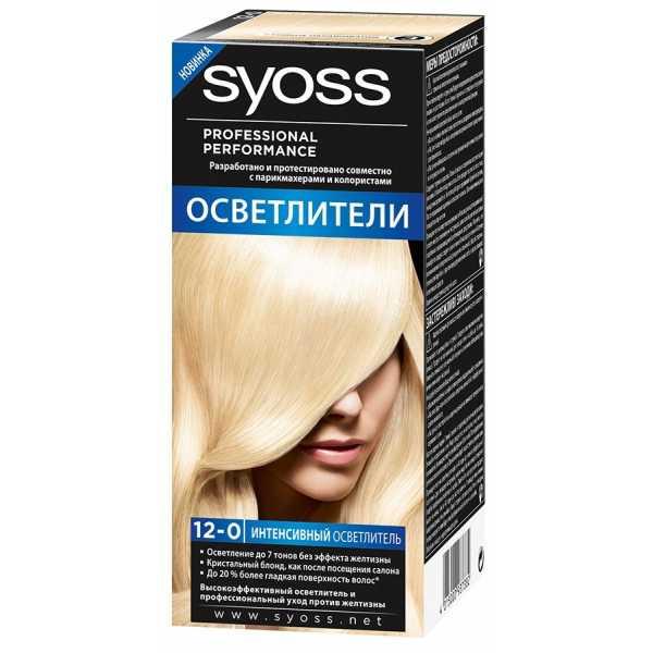 """Краска для волос Syoss Color 12-0 """"Интенсивный осветлитель"""", 115 мл"""