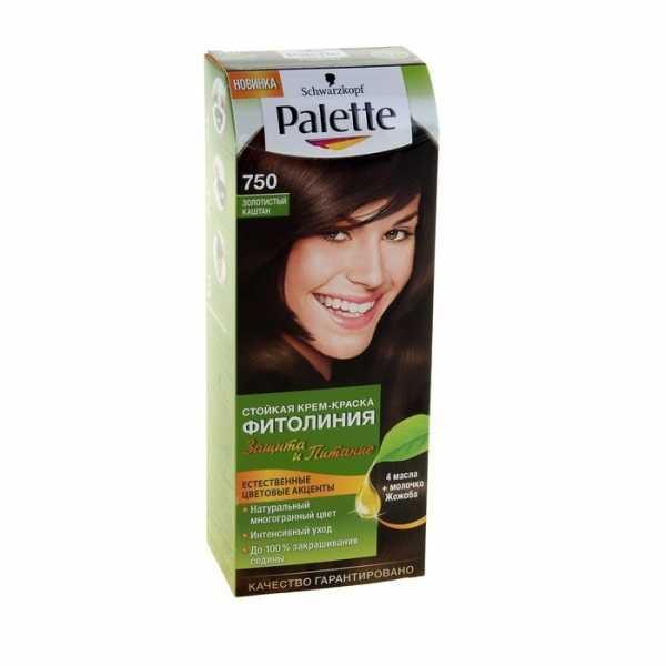 """Краска для волос Palette Фитолиния 750 """"Золотистый каштан"""", 50 мл"""