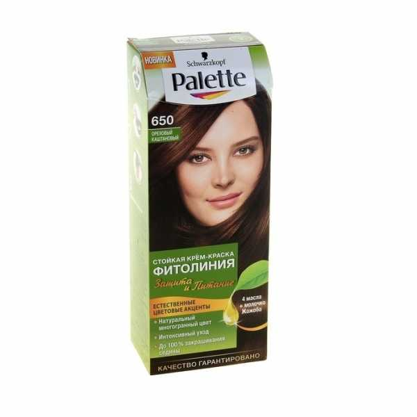 """Краска для волос Palette Фитолиния 650 """"Ореховый каштановый"""", 50 мл"""