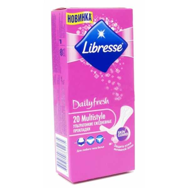 Прокладки ежедневные Libresse Dailyfresh Multistyle, 20 шт