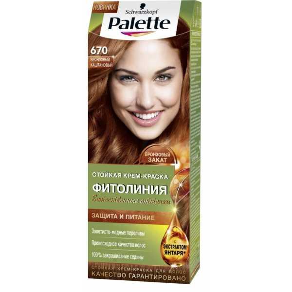 """Краска для волос Palette Фитолиния 670 """"Бронзовый каштановый"""", 50 мл"""