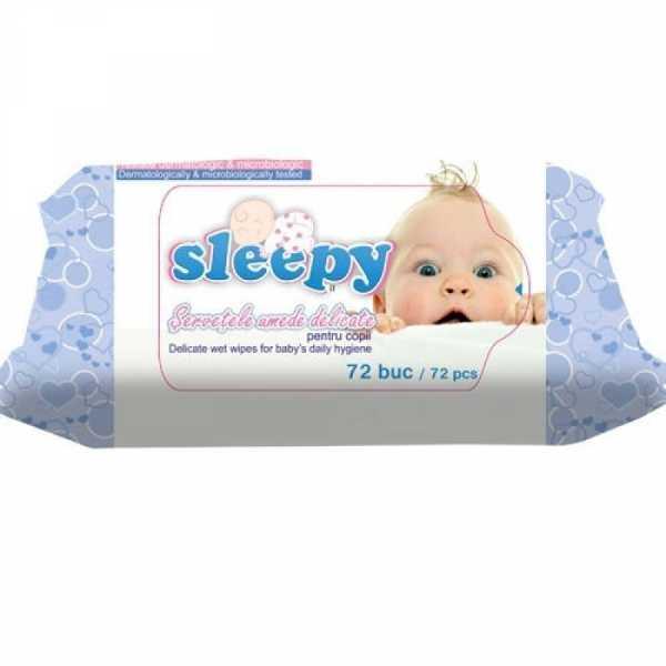 Влажные салфетки Sleepy классические, 72 шт