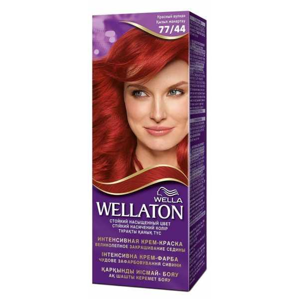 """Краска для волос Wellaton 77/44 """"Красный вулкан"""""""