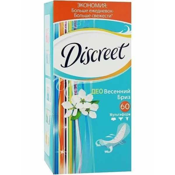 "Прокладки Discreet Deo ""Весенний Бриз"", на каждый день, 60 шт"
