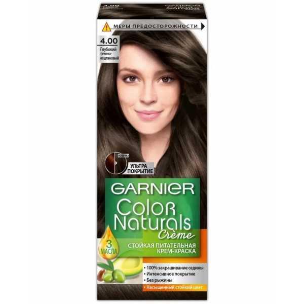 """Краска для волос Garnier Color Naturals 4.0  """"Глубокий темно-каштановый"""""""