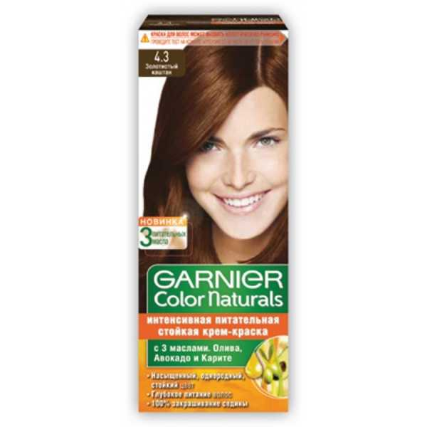 """Краска для волос Garnier Color Naturals 4.3 """"Золотистый каштан"""""""