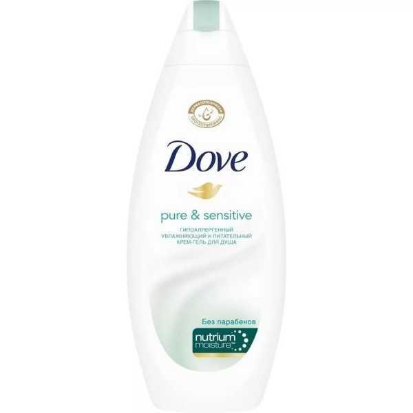 """Крем-гель для душа Dove """"Бережная забота"""" для чувствительной кожи, 250 мл"""