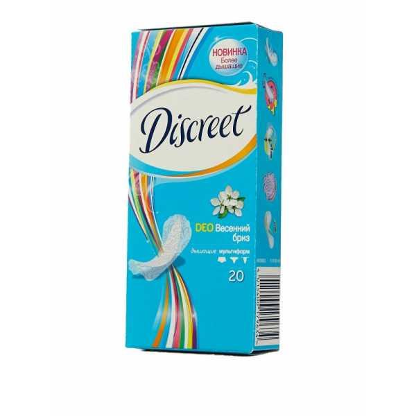 "Прокладки Discreet Deo ""Весенний Бриз"", на каждый день, 20 шт"