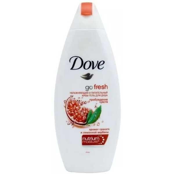 """Крем-гель для душа Dove """"Пробуждение чувств"""" аромат граната, 250 мл"""