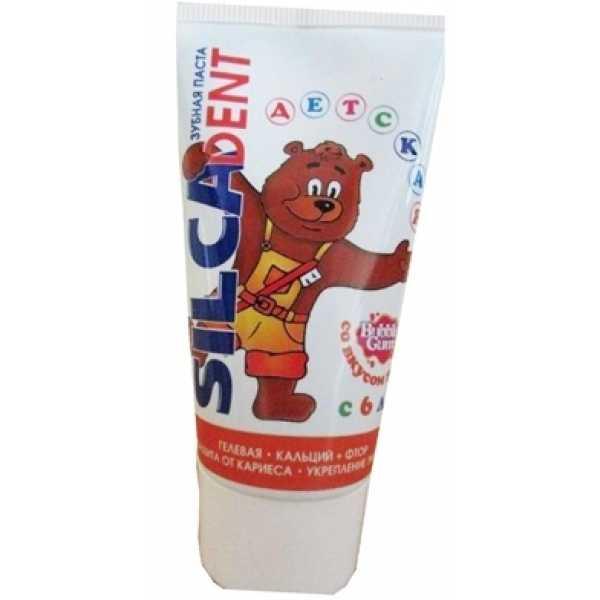 Гелевая зубная паста Silca Dent со вкусом жвачки, с 6 лет, 65 мл