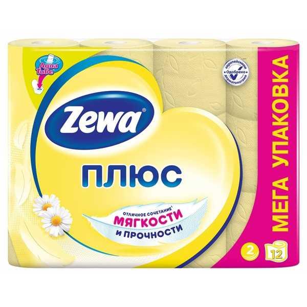 """Туалетная бумага Zewa Плюс """"Ромашка"""", 2 слоя 12 рулонов"""